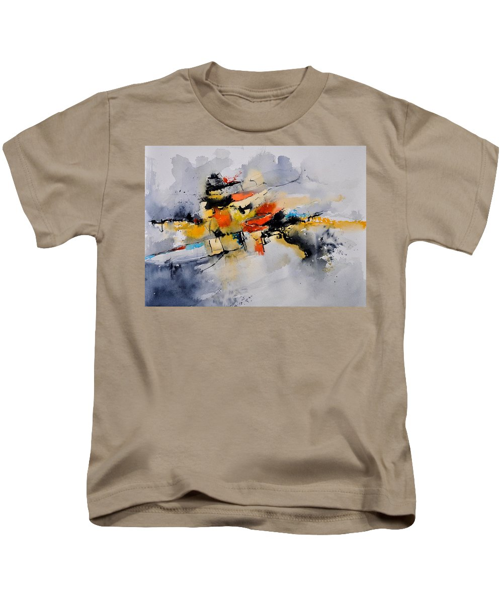 Abstract Kids T-Shirt featuring the painting Watercolor 212142 by Pol Ledent