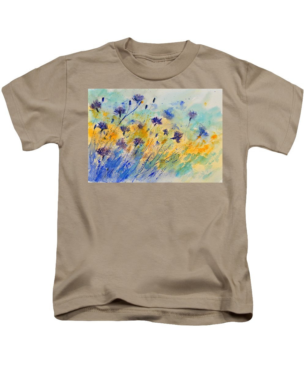 Landscape Kids T-Shirt featuring the painting Watercolor 45417052 by Pol Ledent