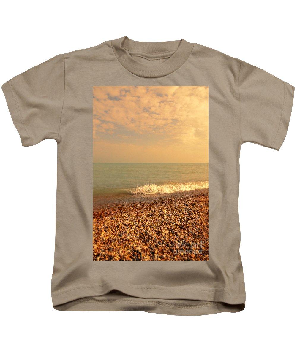 Beach Kids T-Shirt featuring the photograph Wave On Rocky Beach by Jill Battaglia