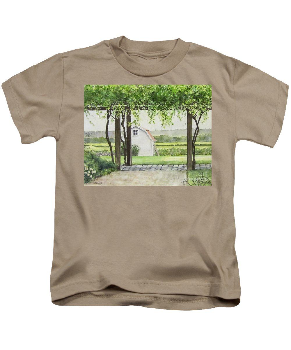 Westport Rivers Winery Kids T-Shirt featuring the painting Westport Rivers Winery by Carol Flagg