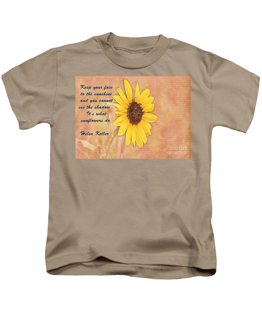 Summer Kids T-Shirt featuring the photograph What Sunflowers Do by Janice Pariza