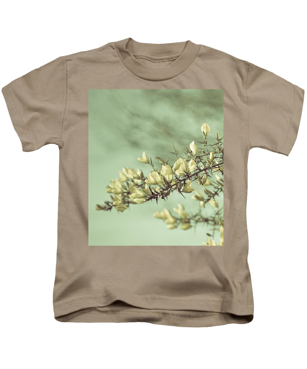 Loriental Kids T-Shirt featuring the photograph When Gorse Flowers Sing Their Melody by Loriental Photography