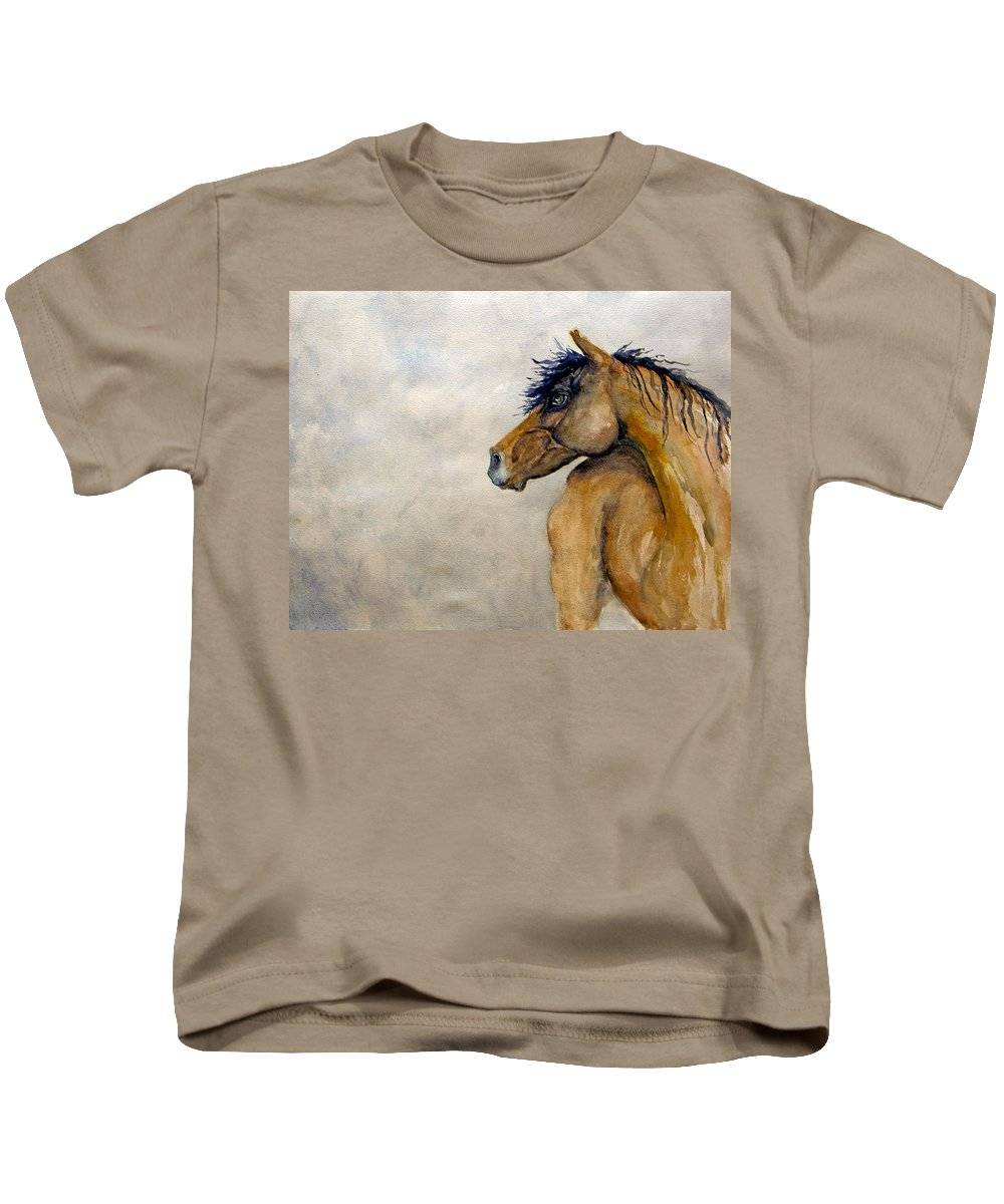 Esthers Prints & Cards Kids T-Shirt featuring the painting Where by Esther Willsher