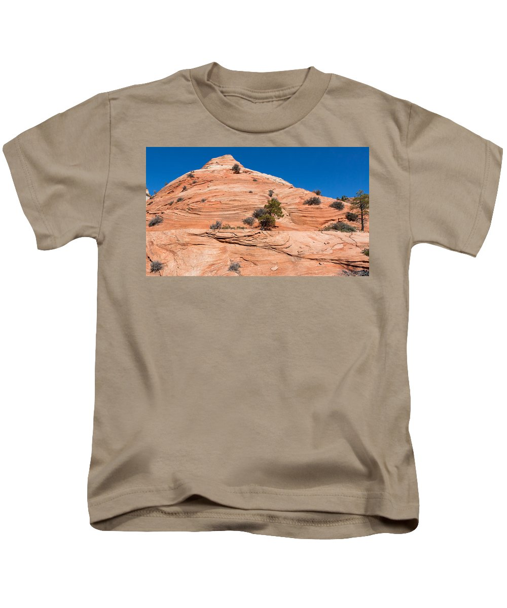 Landscape Kids T-Shirt featuring the photograph Whipped Rock by John M Bailey