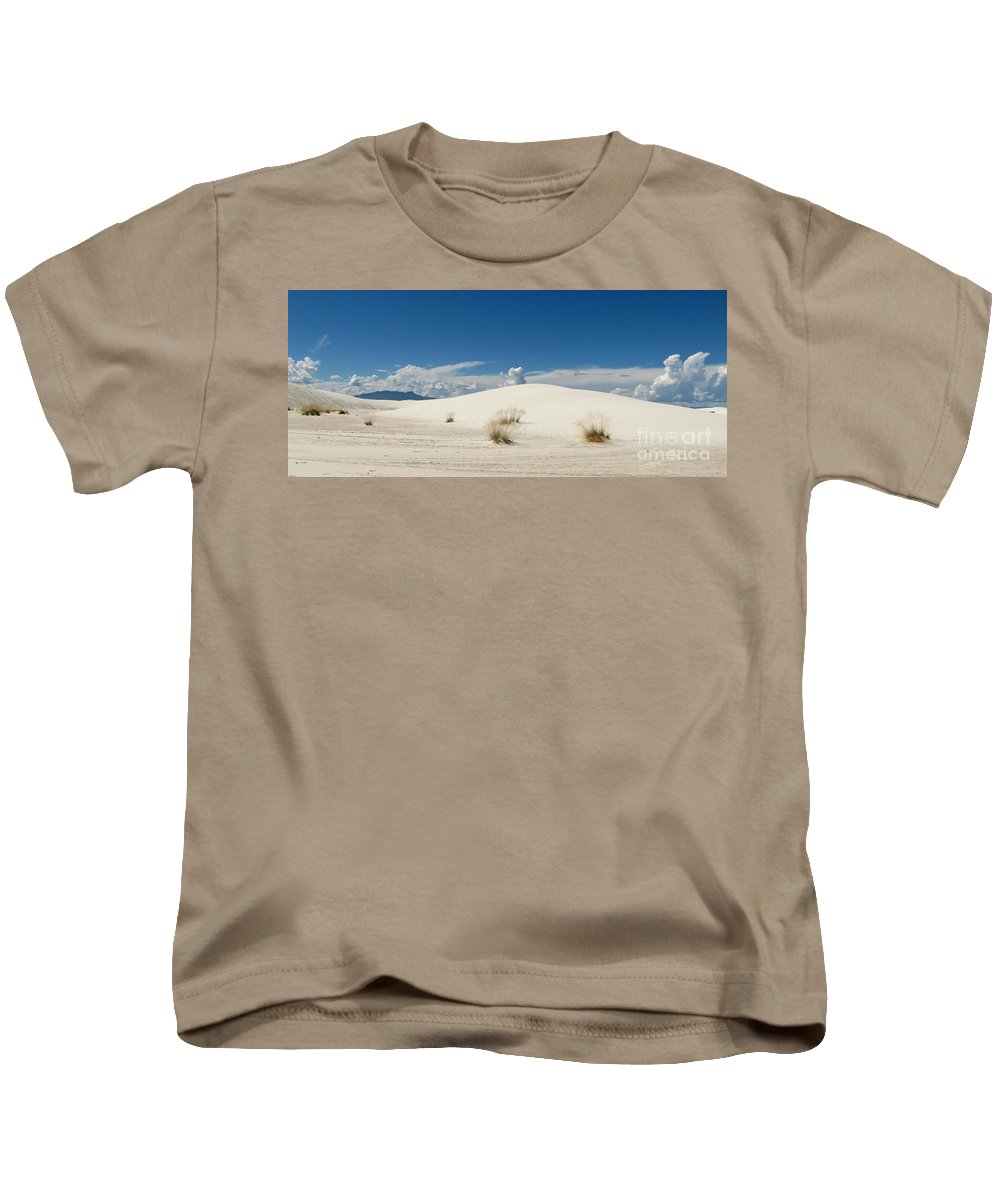 White Sands Kids T-Shirt featuring the photograph White Sands Landscape by Marilyn Smith