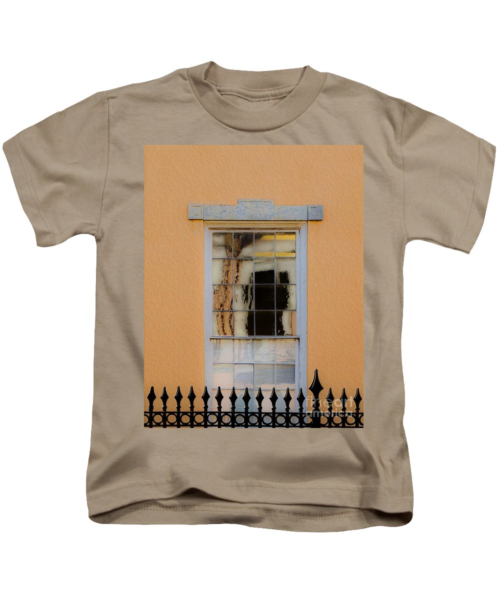 Window Kids T-Shirt featuring the photograph Window Reflecting Upon Window by FrancesAnn Hattier