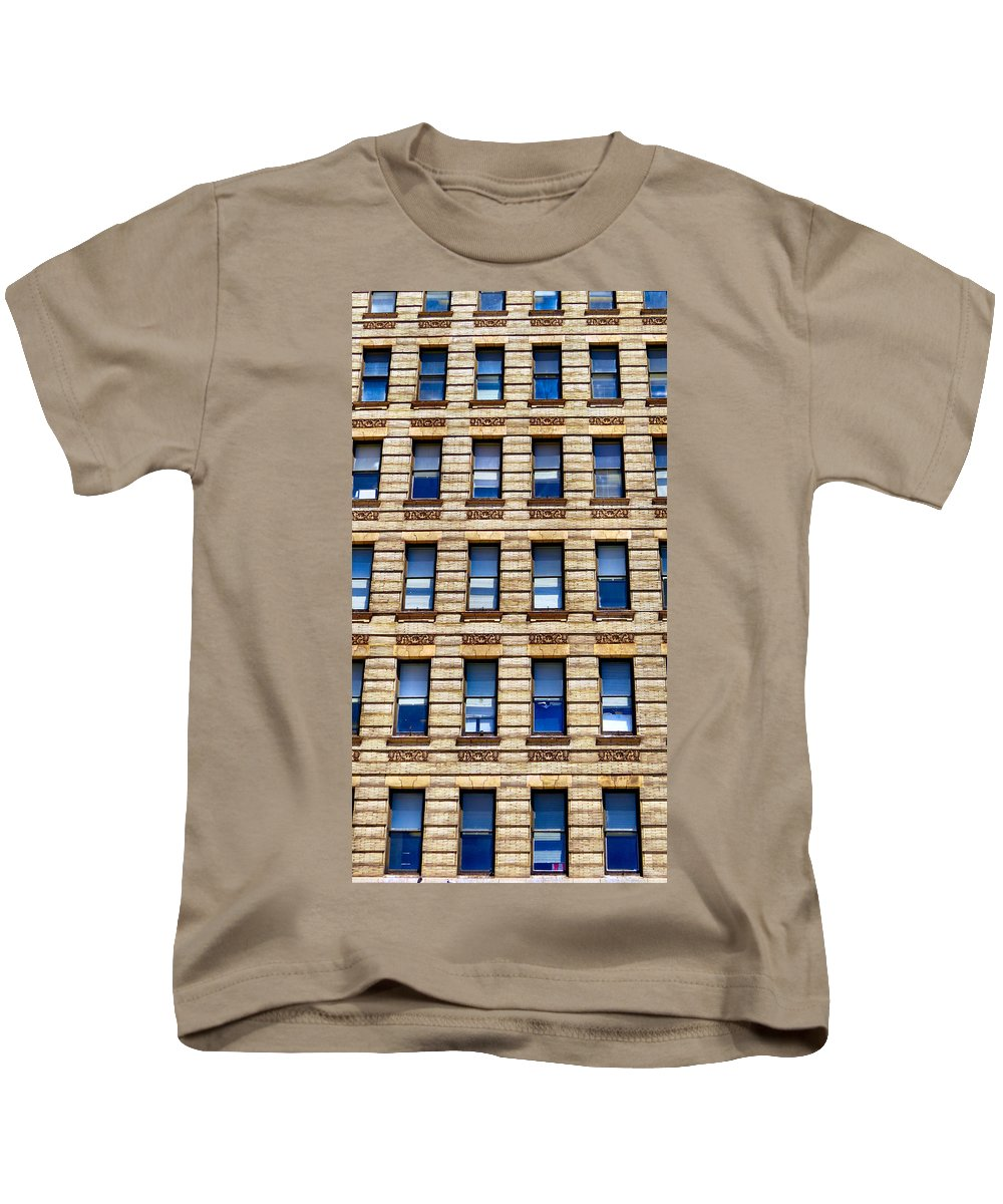 Span Kids T-Shirt featuring the photograph Windows Galore by Art Dingo