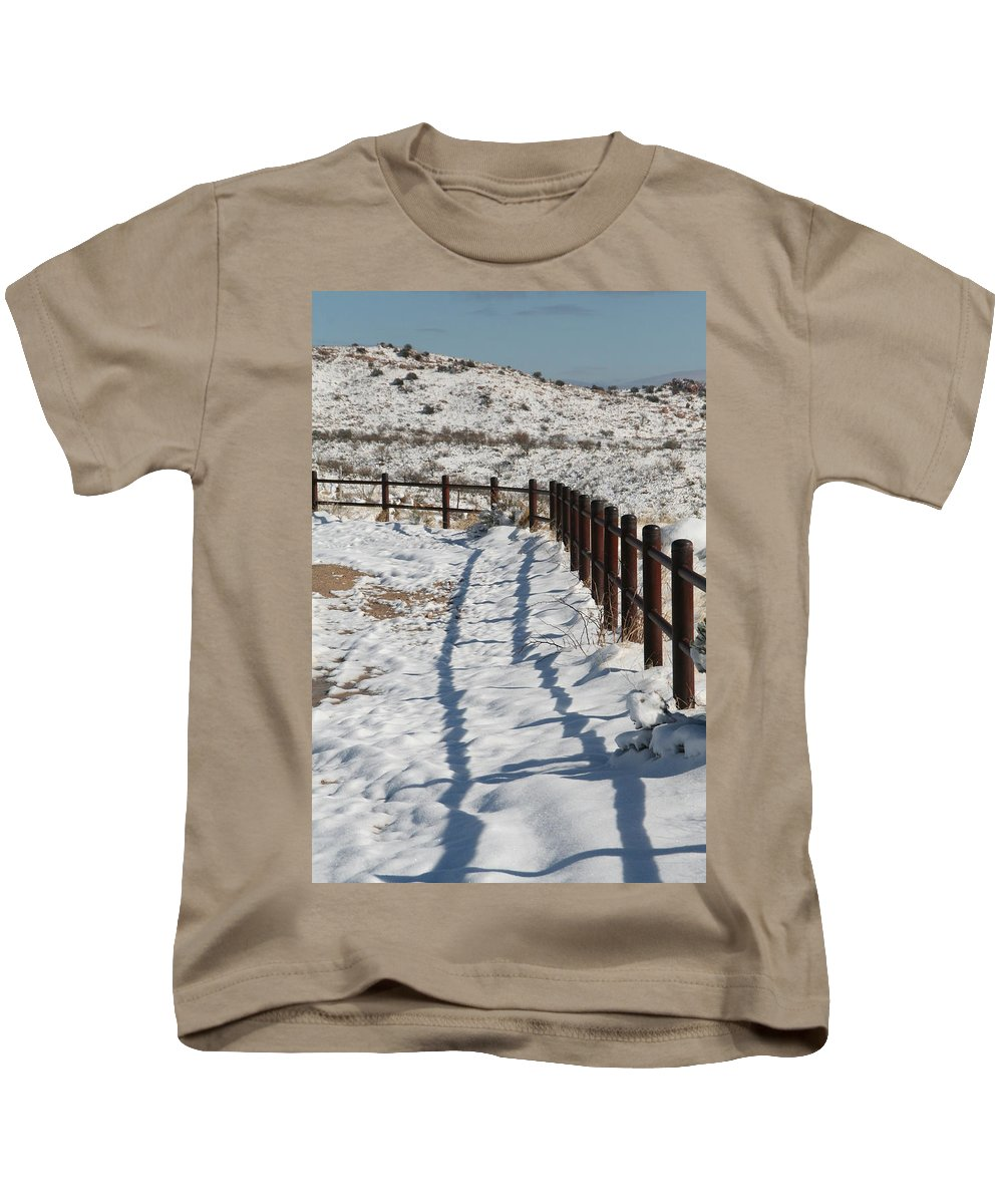 David S Reynolds Kids T-Shirt featuring the photograph Winter Fence by David S Reynolds
