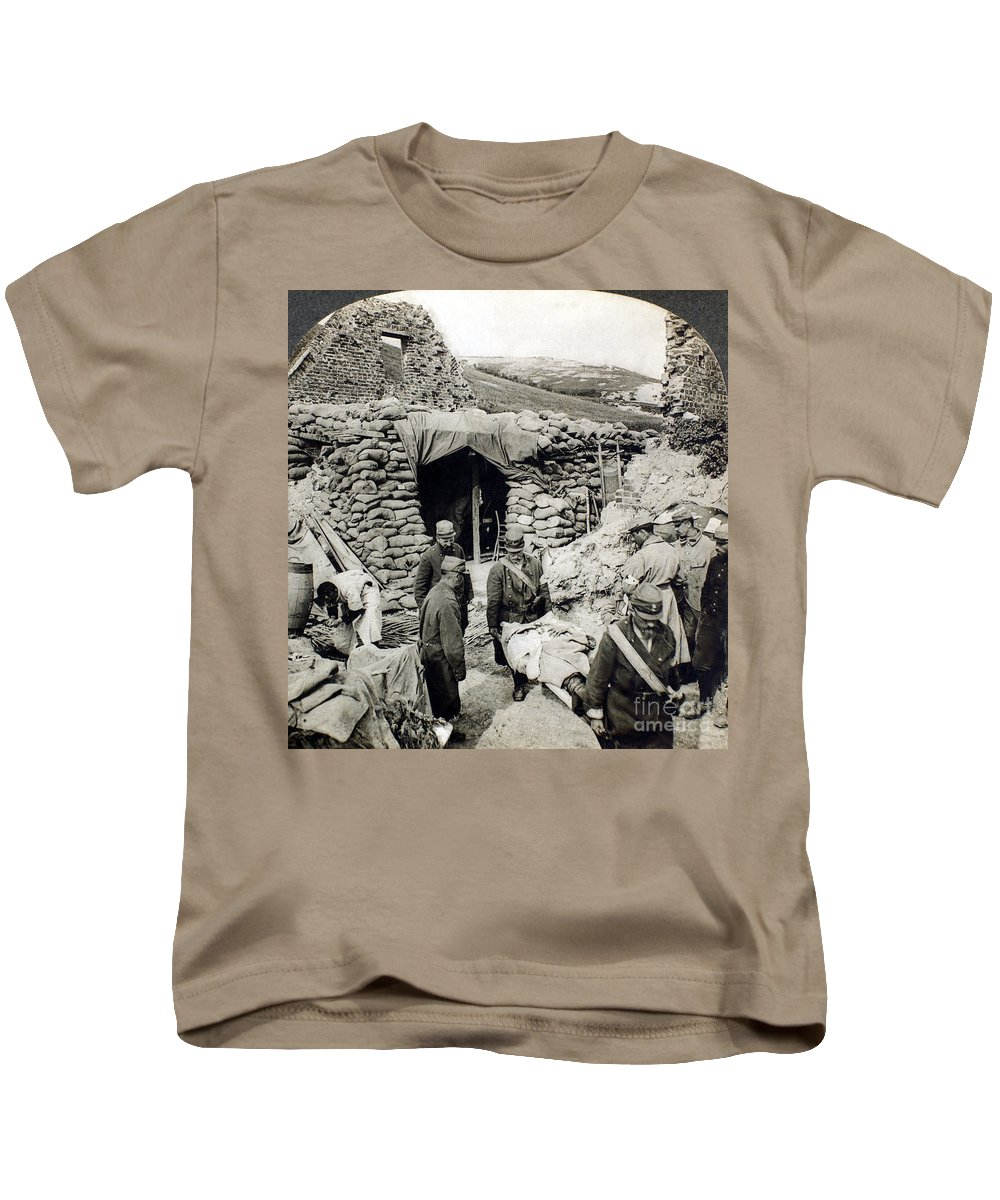 1918 Kids T-Shirt featuring the photograph World War I: Wounded, 1918 by Granger