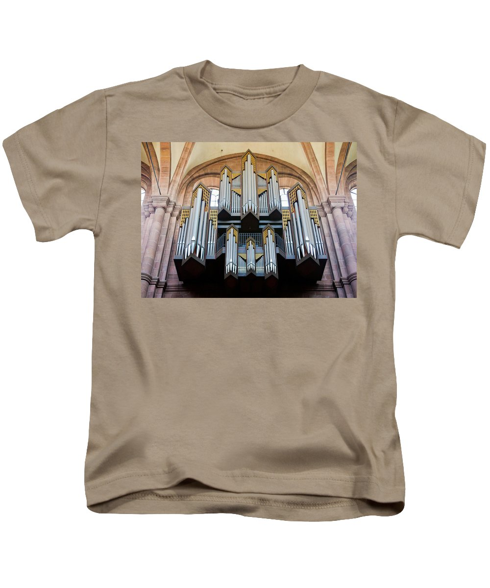 Germany Kids T-Shirt featuring the photograph Worms Cathedral Organ by Jenny Setchell