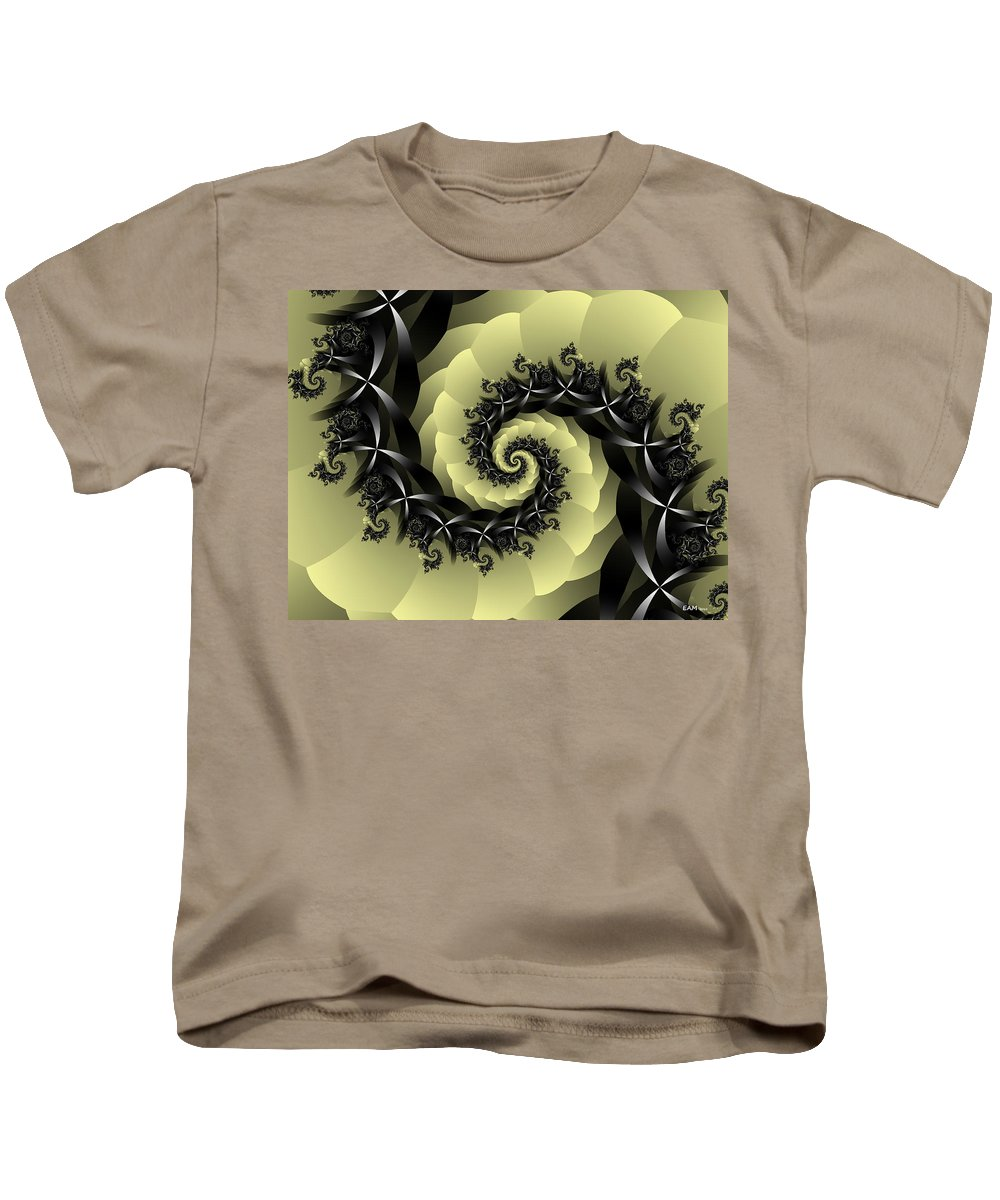 Fractal Art Kids T-Shirt featuring the digital art Yellow Brick Road Detour by Elizabeth McTaggart