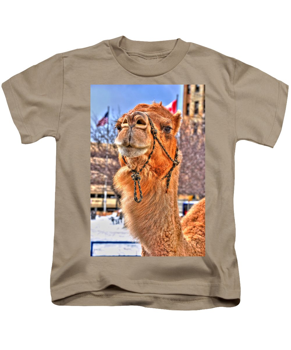 Kids T-Shirt featuring the photograph  And To The Republic For Which It Stands  by Michael Frank Jr
