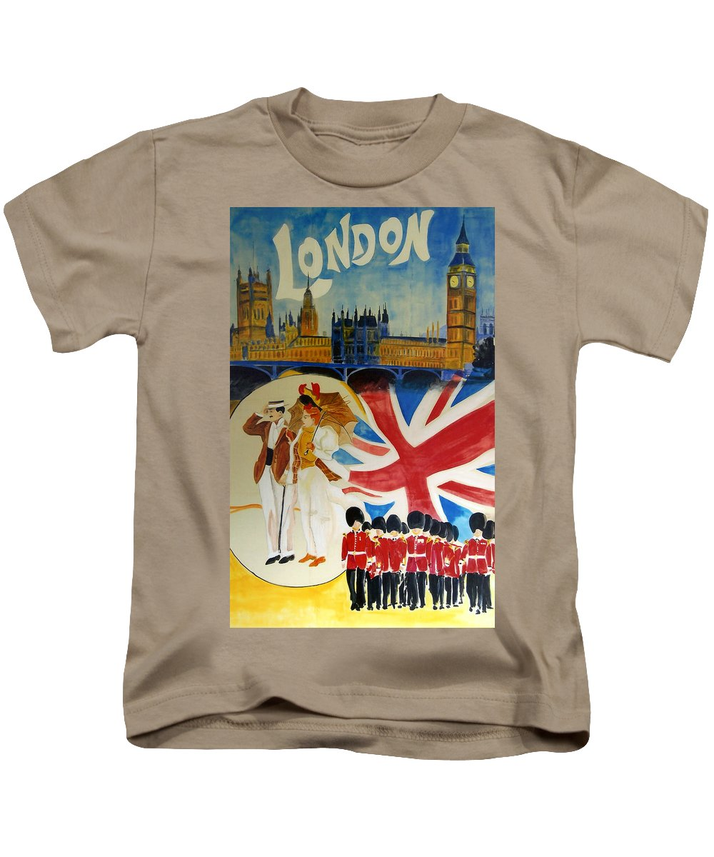 London Kids T-Shirt featuring the digital art London by Georgia Fowler
