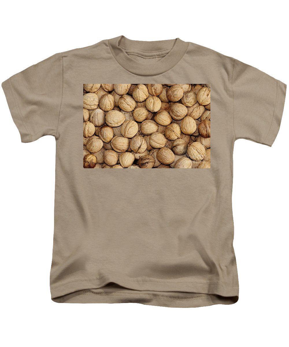 Autumn Kids T-Shirt featuring the photograph Walnuts by Michal Boubin