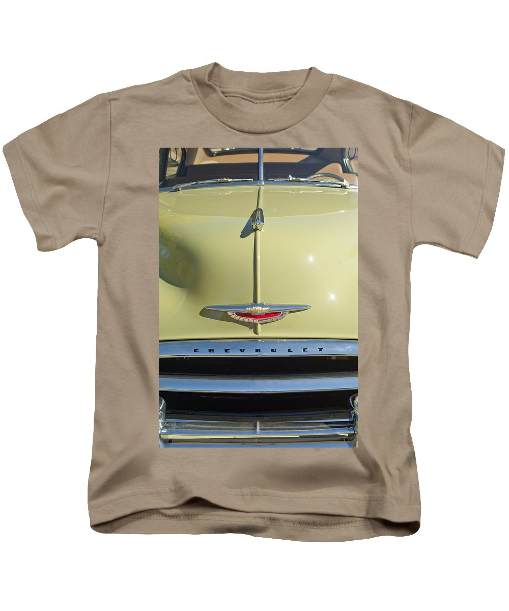 1950 Chevrolet Fleetline Kids T-Shirt featuring the photograph 1950 Chevrolet Fleetline Grille 2 by Jill Reger