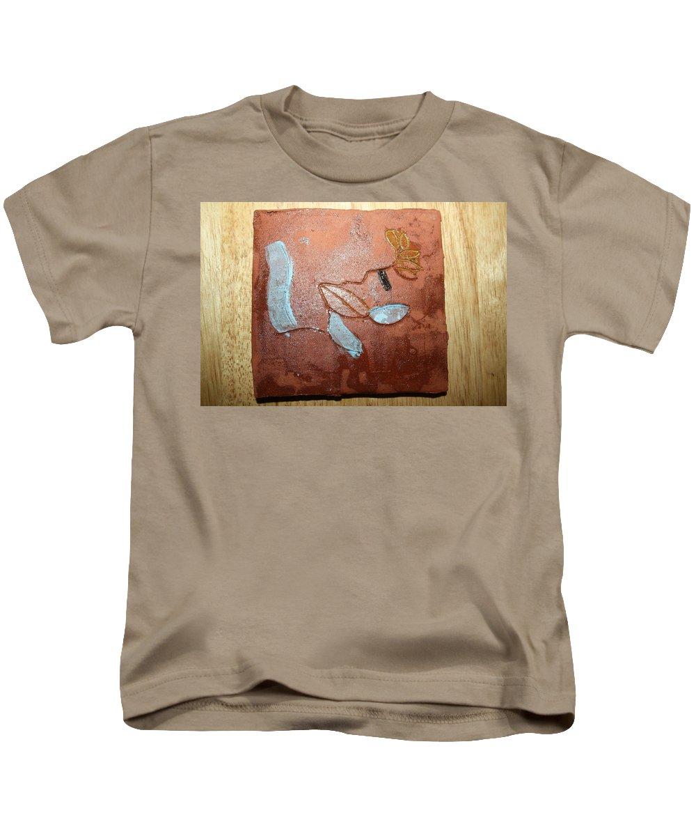 Jesus Kids T-Shirt featuring the ceramic art Abandon - Tile by Gloria Ssali