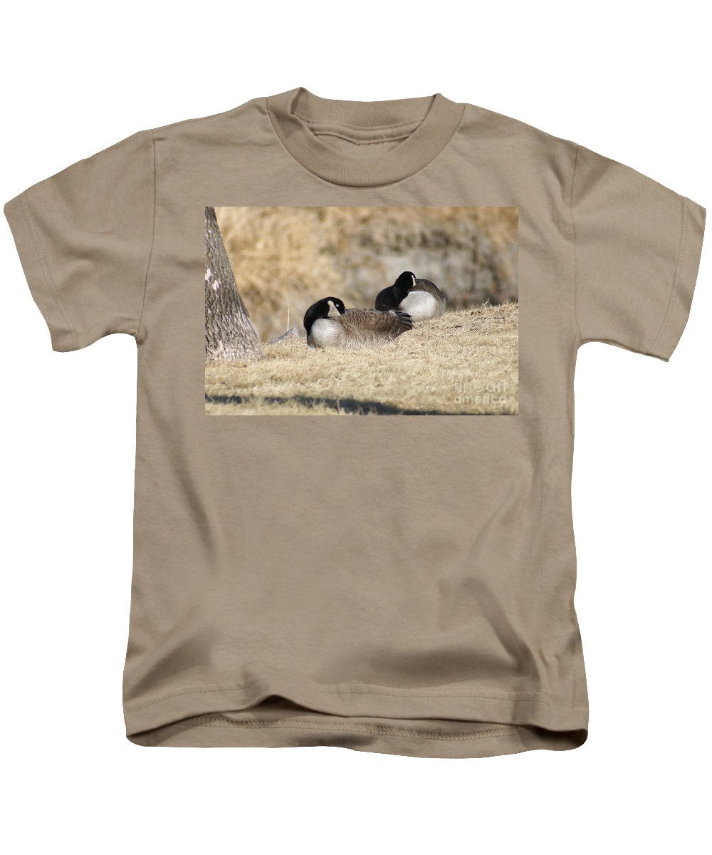 Goose Kids T-Shirt featuring the photograph Nap Time by Lori Tordsen