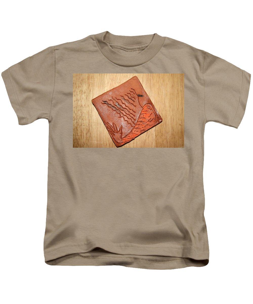 Jesus Kids T-Shirt featuring the ceramic art Sleepy - Tile by Gloria Ssali