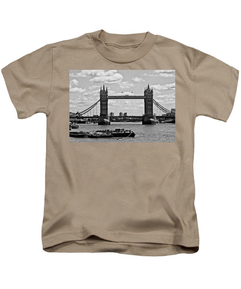 Tower Bridge Kids T-Shirt featuring the photograph Tower Bridge by Dawn OConnor
