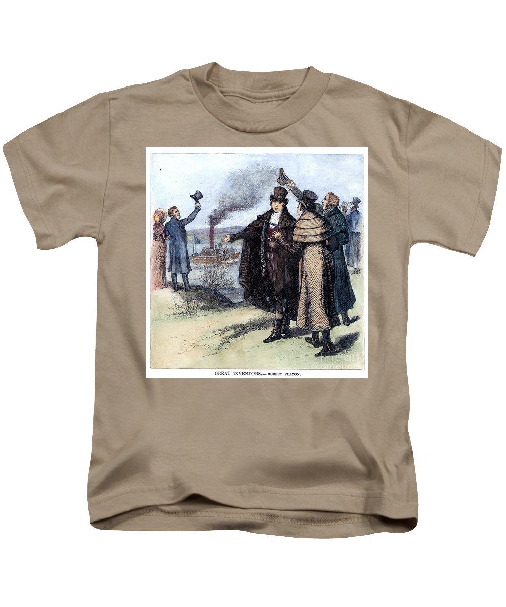1807 Kids T-Shirt featuring the photograph Robert Fulton (1765-1815) by Granger