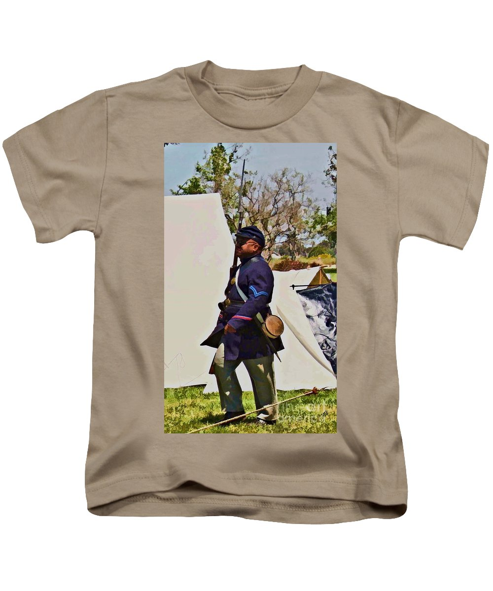 54th Massachusetts Kids T-Shirt featuring the photograph 54th Massachusetts by Tommy Anderson