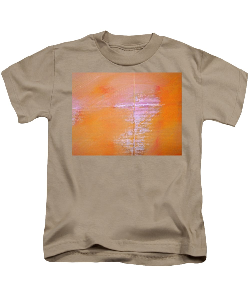 Line Kids T-Shirt featuring the painting A View Of The Line by Charles Stuart