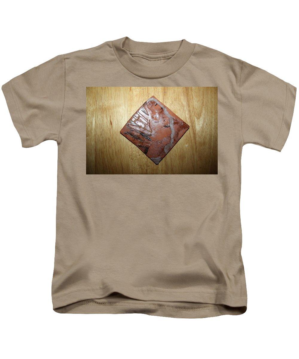 Jesus Kids T-Shirt featuring the ceramic art Adele - Tile by Gloria Ssali