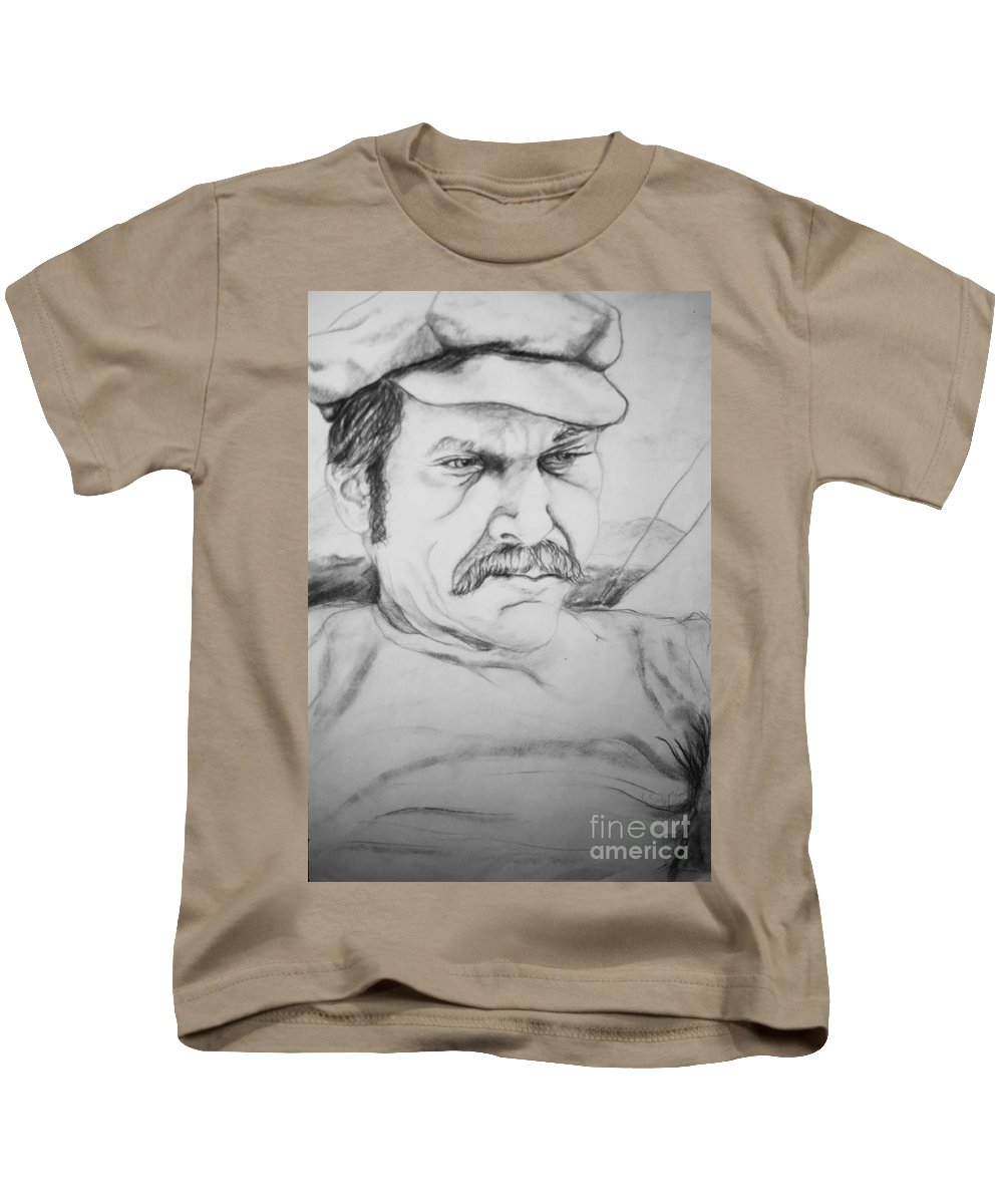 Portrait Kids T-Shirt featuring the drawing An Inward Sea by Rory Sagner