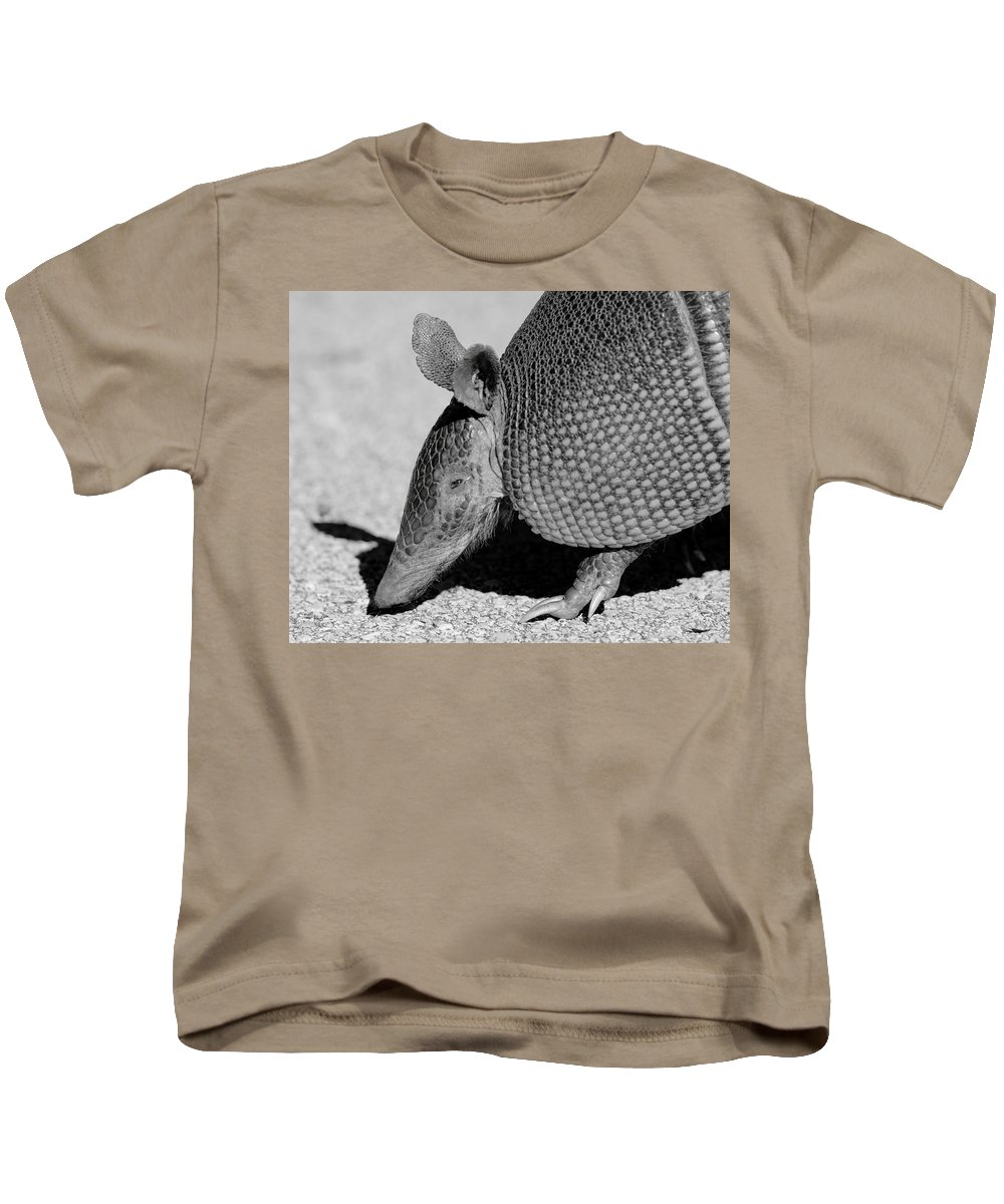 Armadillo Kids T-Shirt featuring the photograph Armadillo by Bruce J Robinson