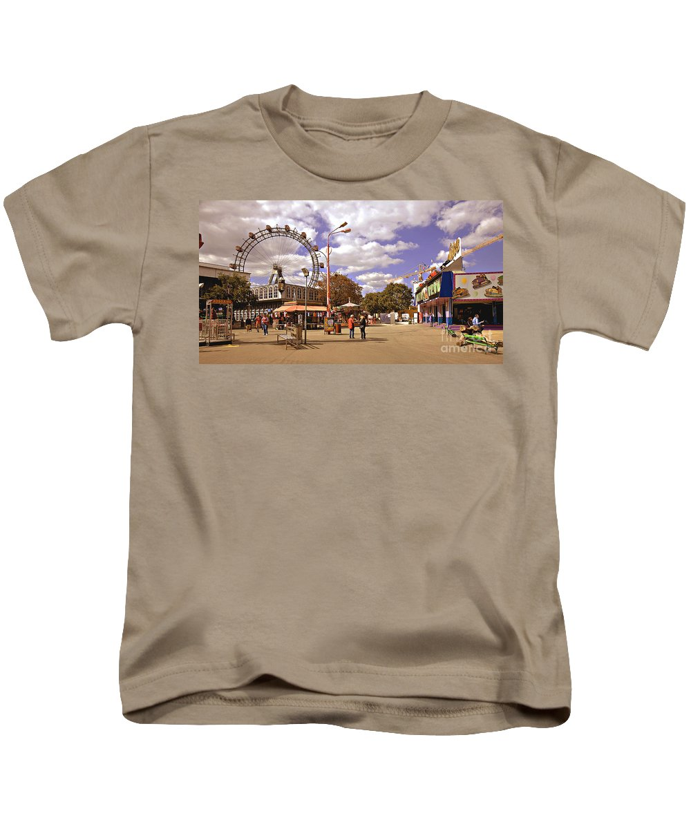Vienna Kids T-Shirt featuring the photograph At The Prater - Vienna by Madeline Ellis