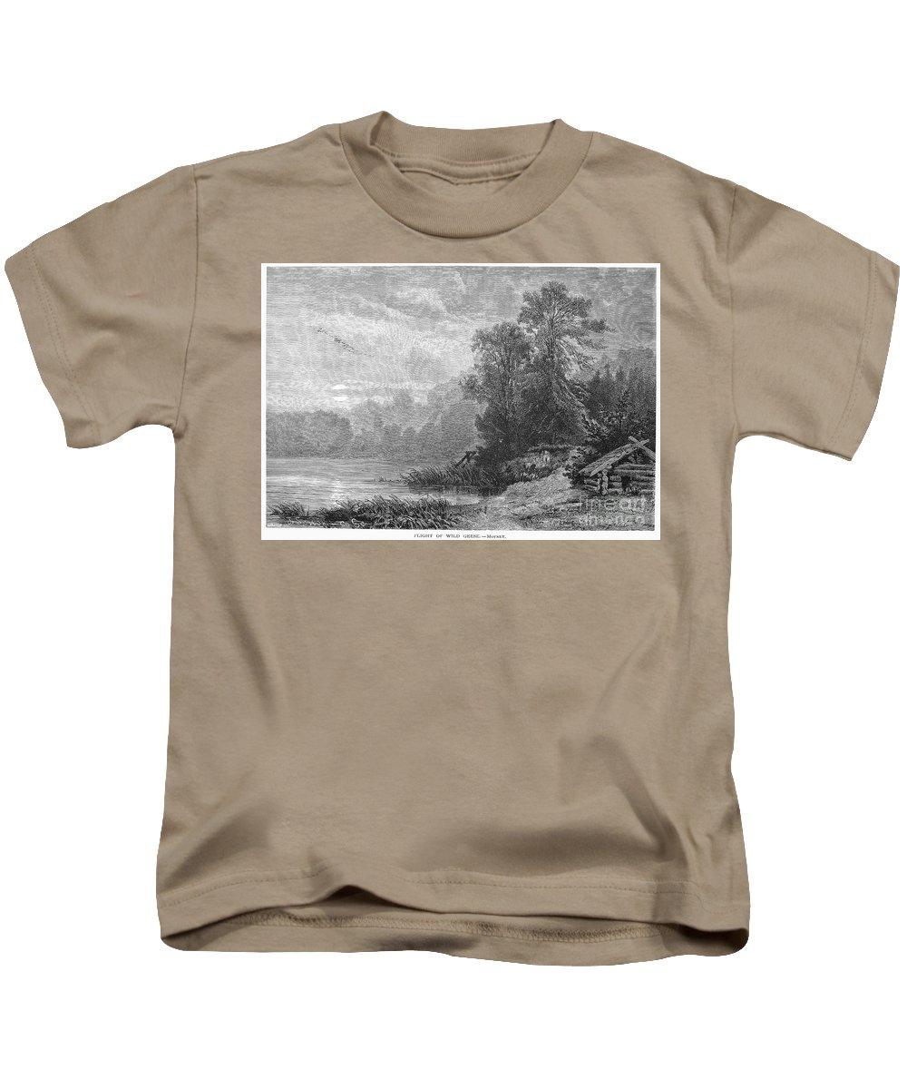 1873 Kids T-Shirt featuring the photograph Autumn, 1873 by Granger