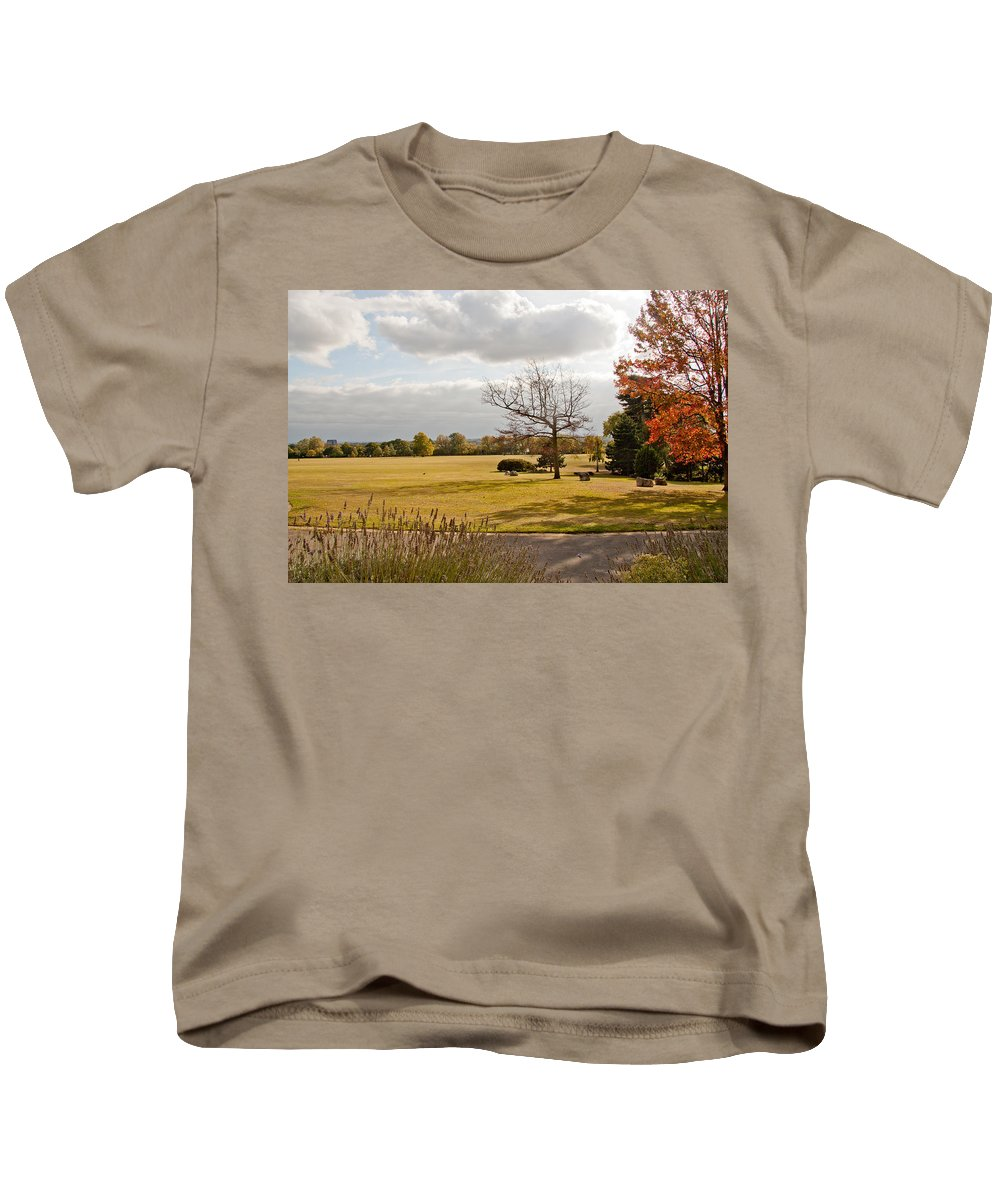 Avery Hill Kids T-Shirt featuring the photograph Avery Hill Parkland by Dawn OConnor