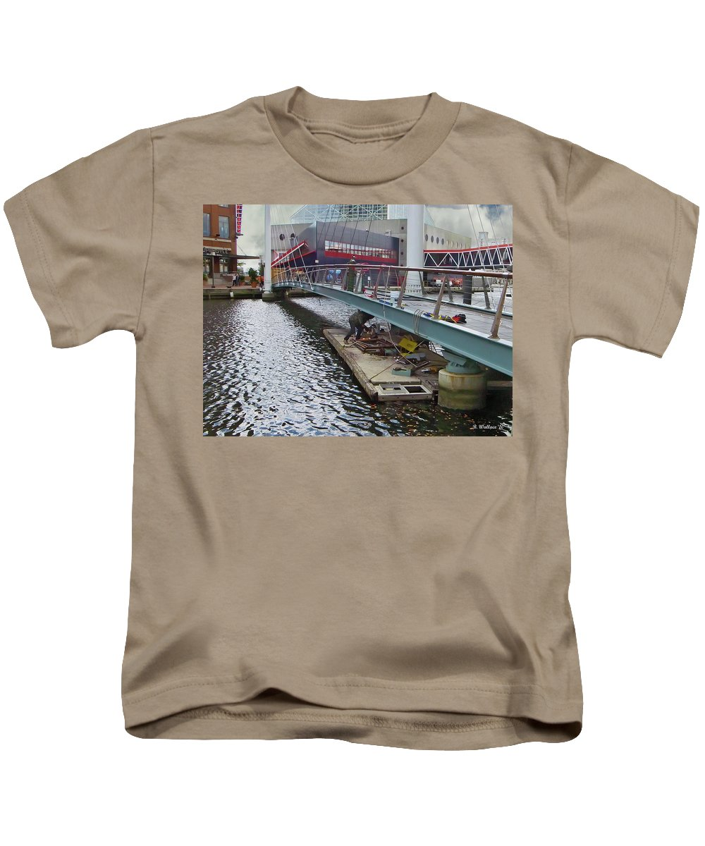 Brian Wallace Kids T-Shirt featuring the photograph Baltimore Maintenance by Brian Wallace