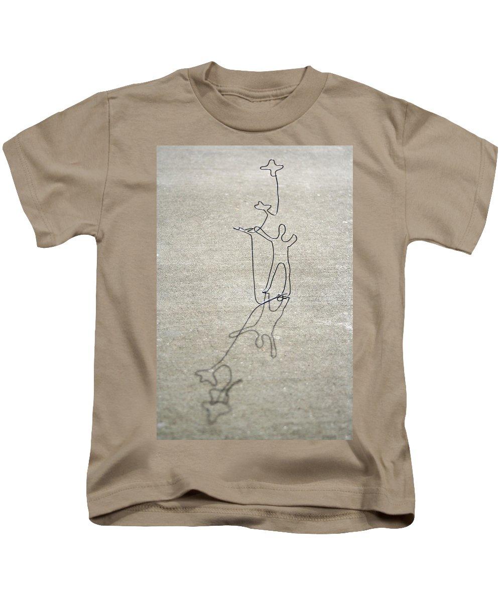 Birds Kids T-Shirt featuring the photograph Birds by Masha Batkova