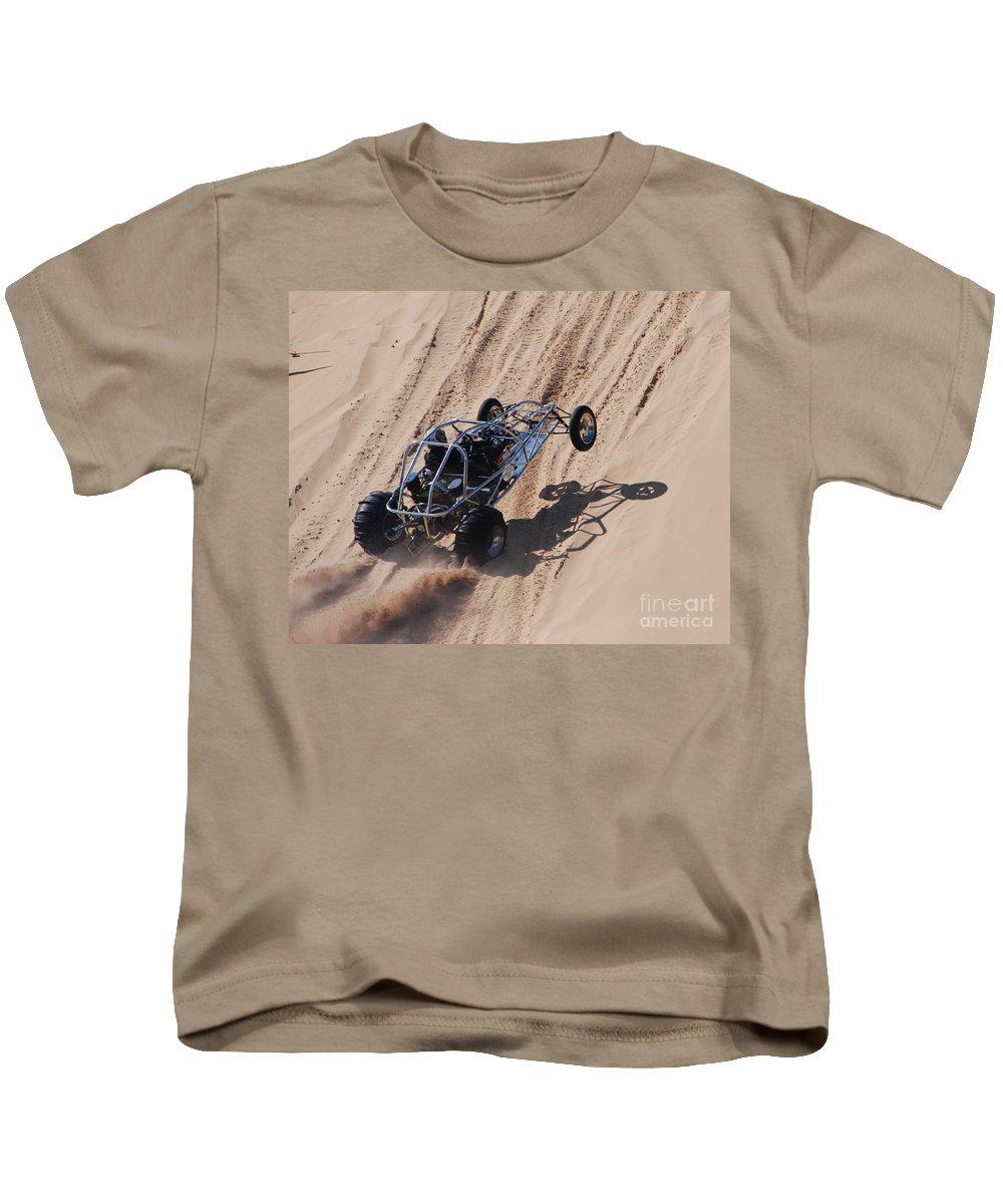 Dune Buggy Kids T-Shirt featuring the photograph Buggy Climb by Grace Grogan