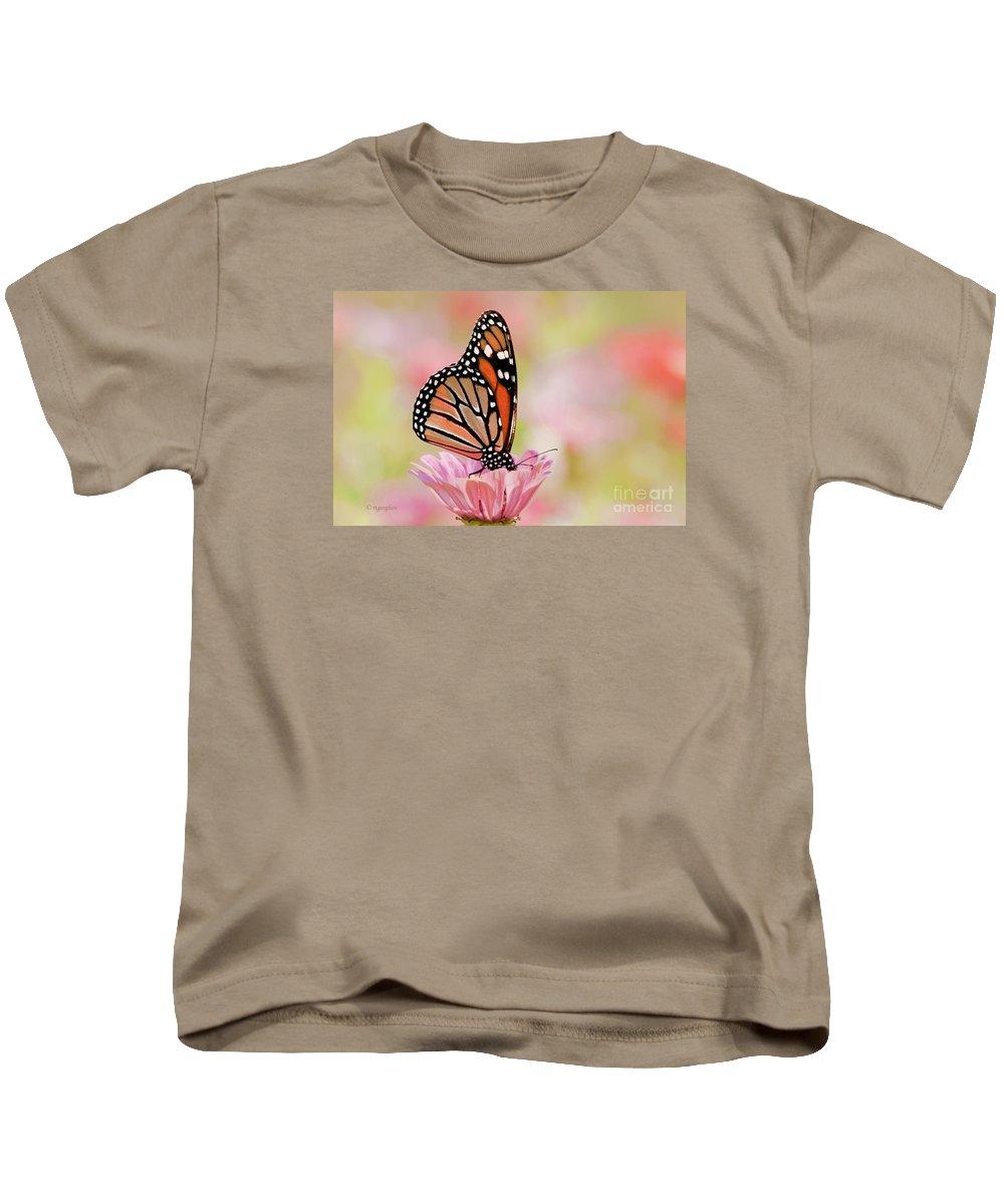 Butterfly Kids T-Shirt featuring the photograph Butterfly Garden IIi by Regina Geoghan