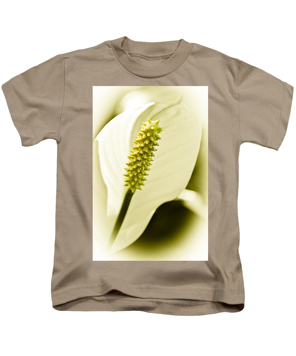 Peace Lily Kids T-Shirt featuring the photograph Peace Lily by Carolyn Marshall