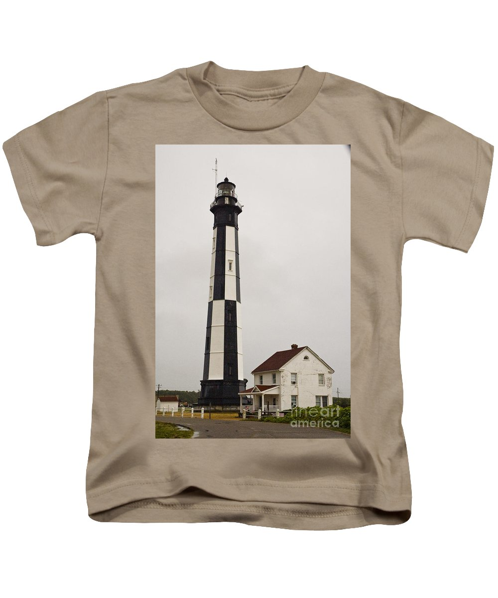 Lighthouse Kids T-Shirt featuring the photograph Cape Henry Lighthouse by Tim Mulina