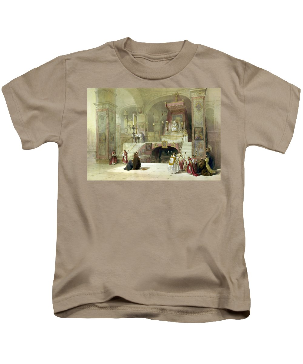 Chapel Kids T-Shirt featuring the photograph Chapel Of The Annunciation Nazareth by Munir Alawi