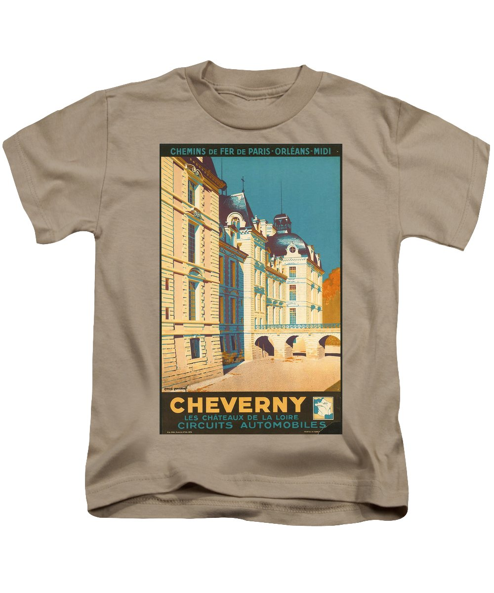 Ancient Kids T-Shirt featuring the digital art Chateau De Cheverny by Georgia Fowler