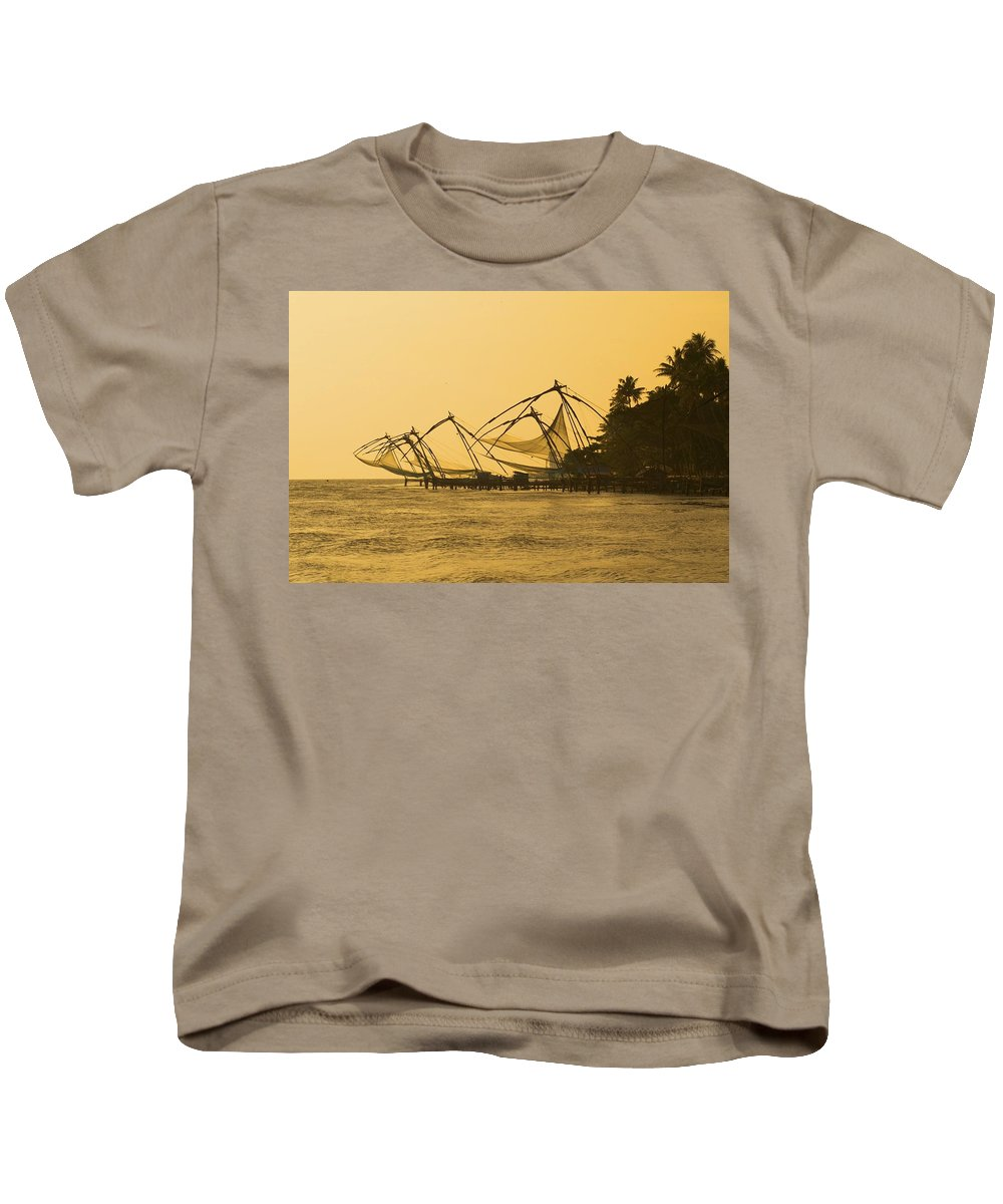 Fishing Kids T-Shirt featuring the photograph Chinese Fishing Nets by Valerie Rosen