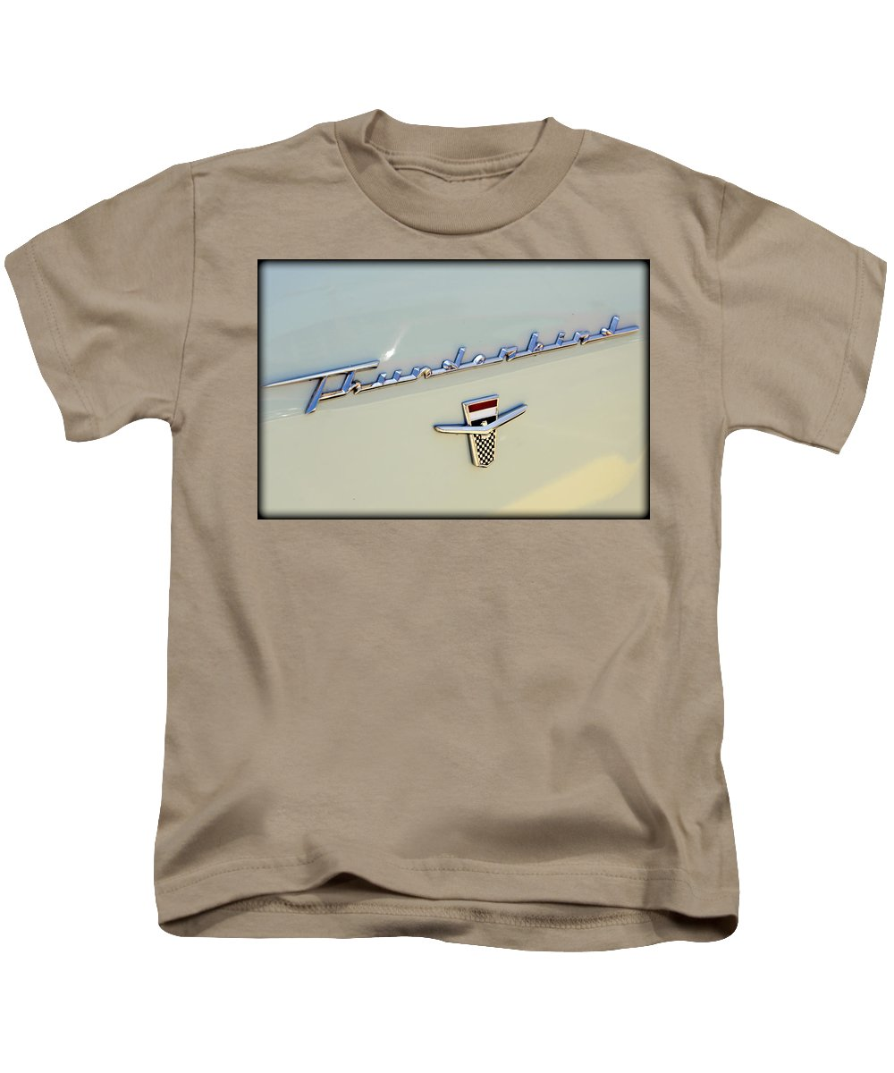Ford Kids T-Shirt featuring the photograph Classic T-bird by Ricky Barnard