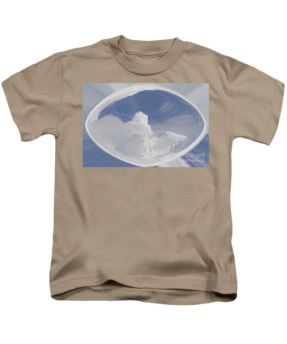 Clouds Kids T-Shirt featuring the digital art Cloud Art by Deborah Benoit
