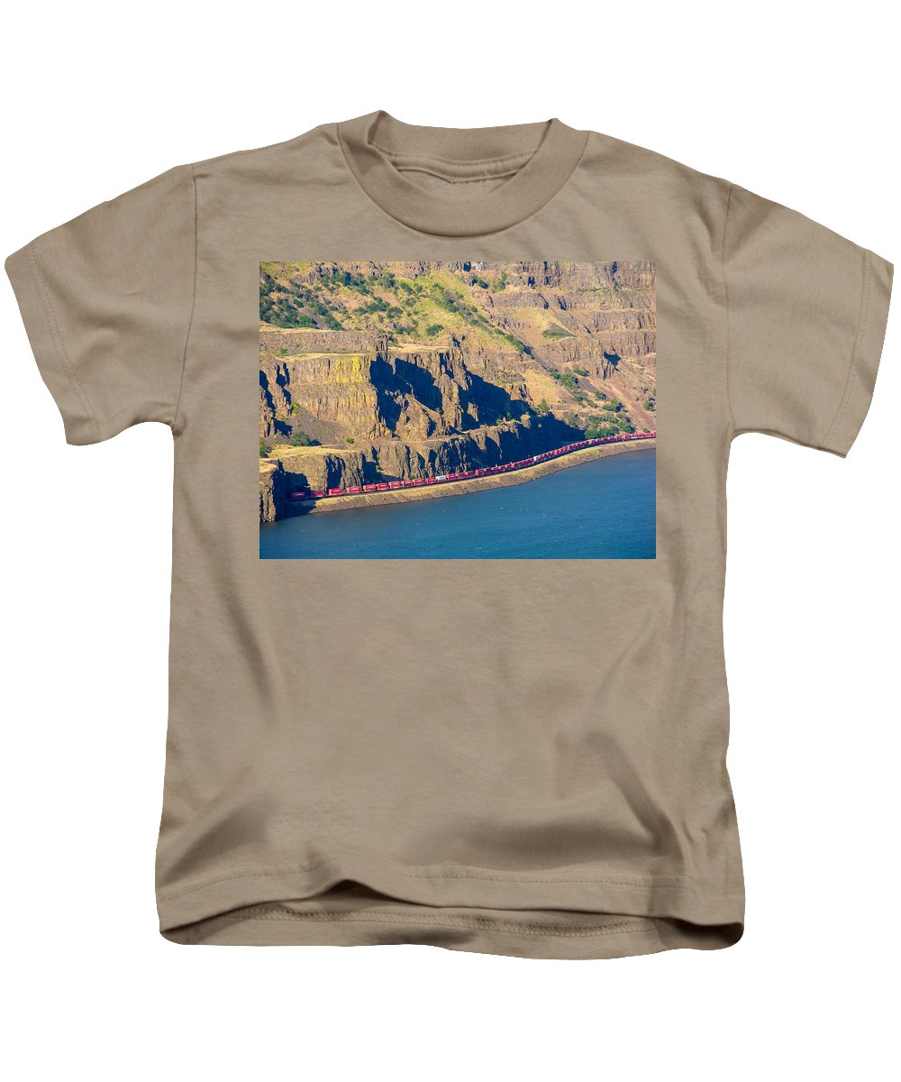 Columbia River Gorge Kids T-Shirt featuring the photograph Columbia River Gorge by Mike Penney