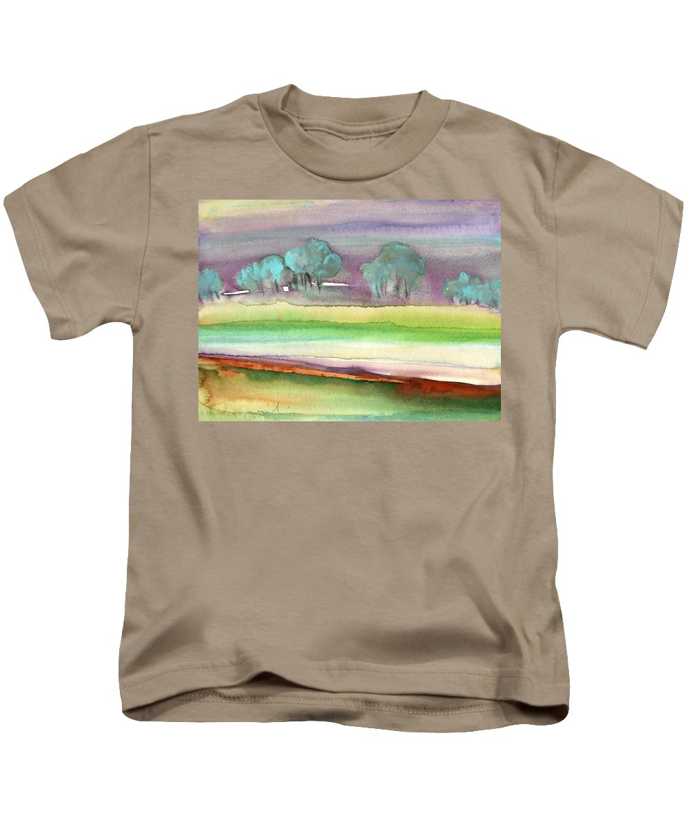 Landscapes Kids T-Shirt featuring the painting Dawn 22 by Miki De Goodaboom