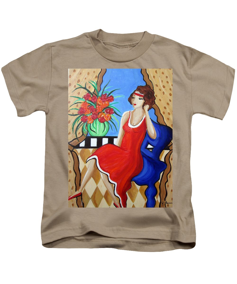 Whymsical Kids T-Shirt featuring the painting Daydreaming by Rosie Sherman