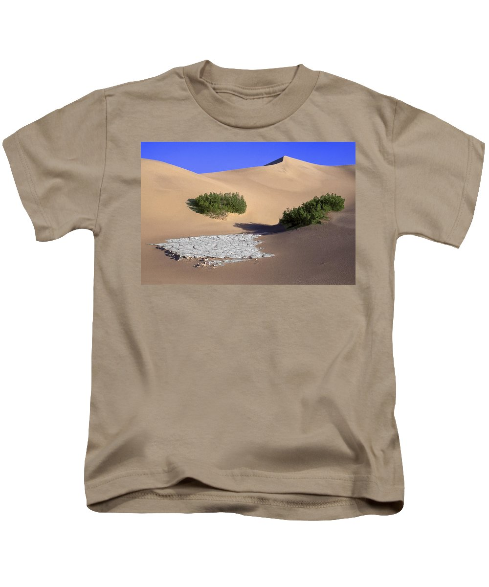 Death Valley Kids T-Shirt featuring the photograph Death Valley Salt Flat by Dave Mills