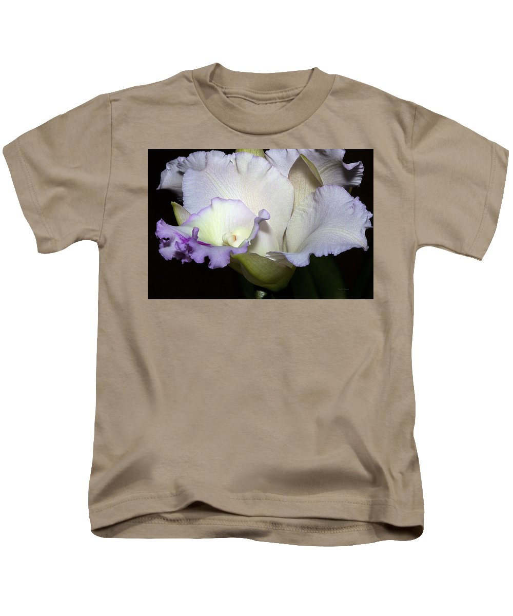 Orchid Kids T-Shirt featuring the photograph Delicate Purple Orchid by Phyllis Denton