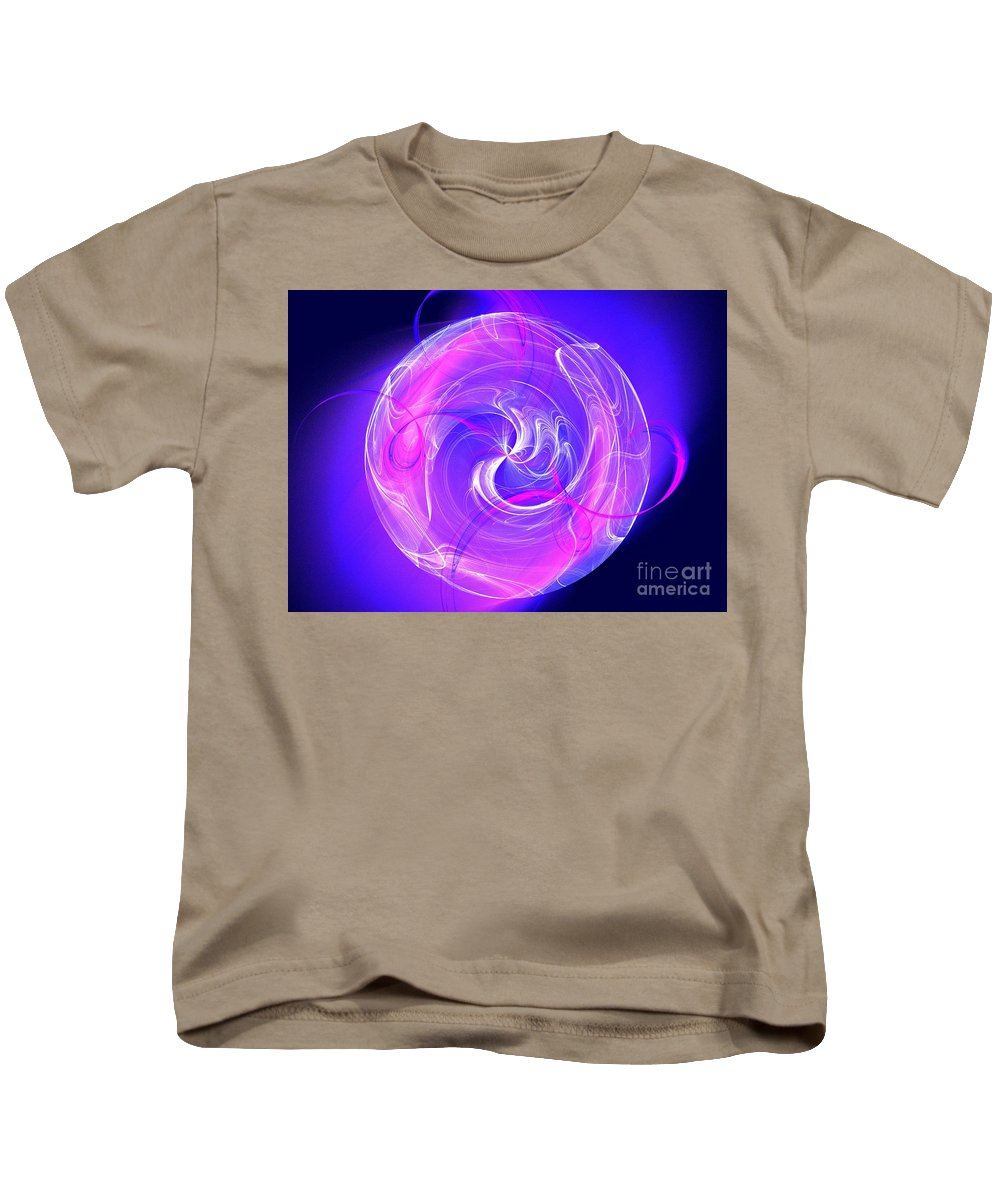 Apophysis Kids T-Shirt featuring the photograph Diaphanous by Kim Sy Ok