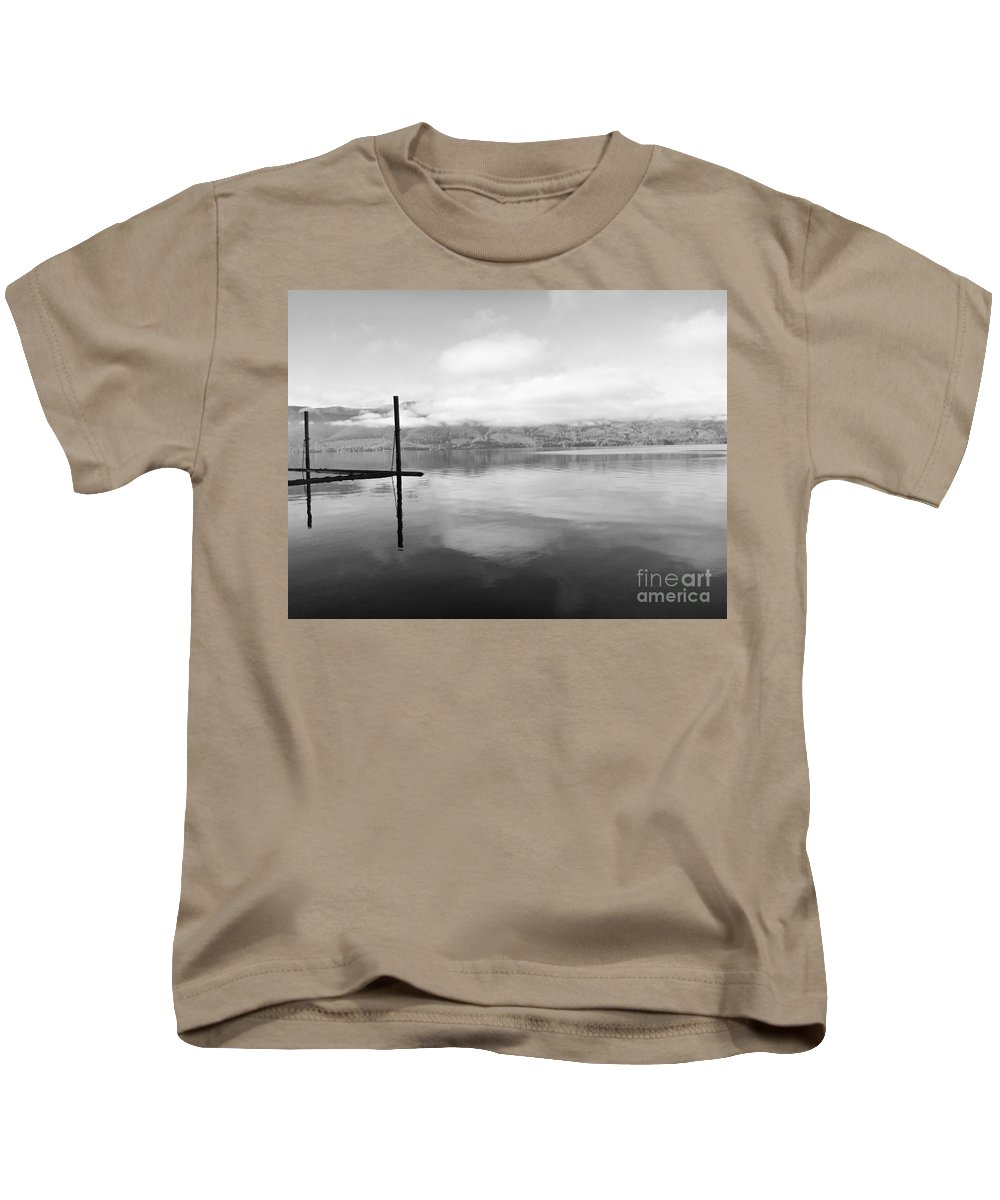 British Columbia Kids T-Shirt featuring the photograph Dock by Traci Cottingham